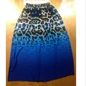 Worthington Skirts - Worthington  Blue Animal Print Lined Skirt Sz Med